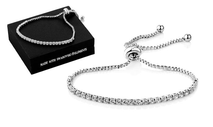 Bracelet Friendship plaqu or blanc et orn de cristaux Swarovski® de la marque Philip Jones à 1590€ (76% de rduction)