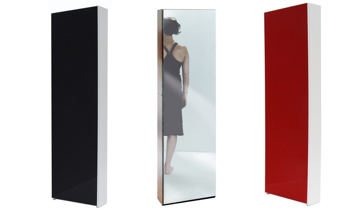 Scarpiera specchio o vetro groupon goods - Scarpiera specchio anta unica ...