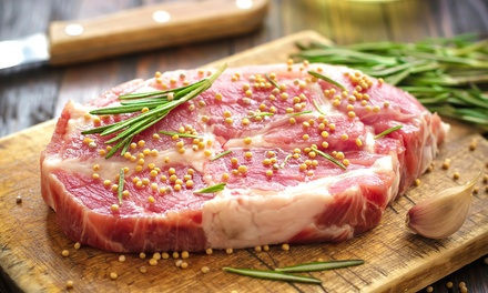 Five Pounds of Center-Cut Pork Chops, Pork Steaks, or Striped Catfish Fillets at Burbach's Market (Up to 45% Off)