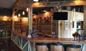 Bear Wallow Distillery: Distillery Tour Package with Souvenir Shot Glasses for Two or Four at Bear Wallow Distillery (36%Off)
