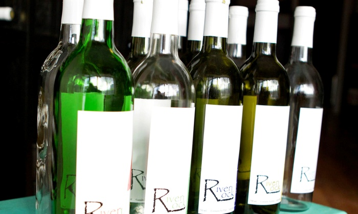 River Rock Beverage Company - Akron: Case of 12 Small or Standard Wine Bottles with Personalized Labels from River Rock Beverage Company (Up to 52% Off)