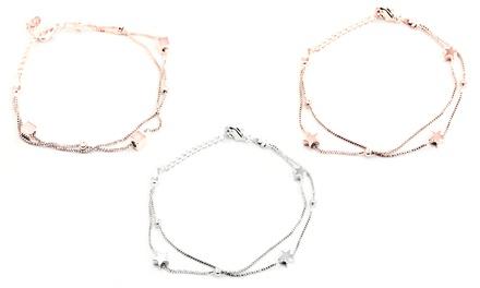 Bracelet plaqué rhodium