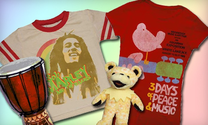 Sunshine Daydream - Multiple Locations: $12 for $25 Worth of Classic Rock-Era Apparel and Gifts at Sunshine Daydream