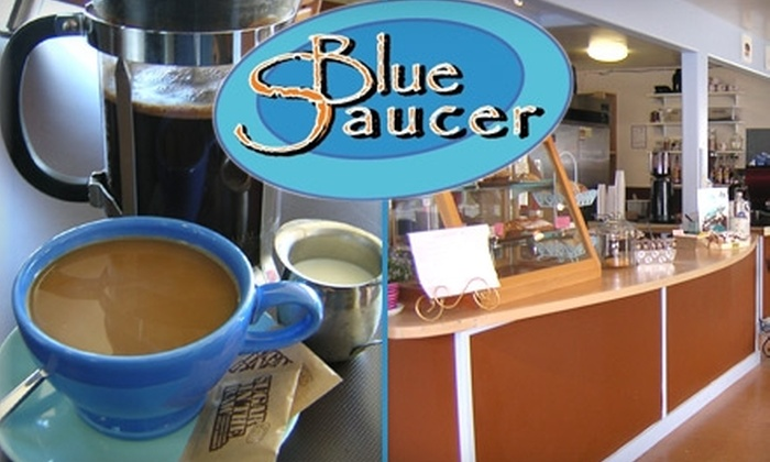 Blue Saucer - Maple Leaf: $10 for $20 Worth of Gourmet Coffee, Tea, and Baked Goods at Blue Saucer