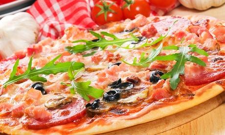 Menú para llevar para dos con entrante, pizza, postre y bebida por 12,90 €