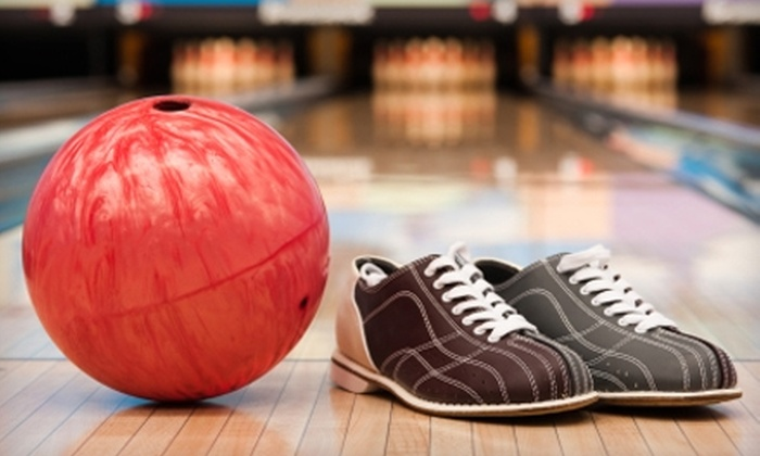 Pioneer Lanes Family Recreation Center - Plainfield: $45 for Bowling, Shoe Rental for Six, Pizza, and Soda at Pioneer Lanes Family Recreation Center in Plainfield ($94 Value)