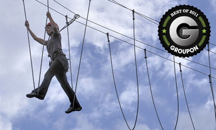 Adventura - Tourist District: $50 for a Ropes and Zipline Challenge Course and Tour of Redhook Brewery from Adventura in Woodinville ($100 Value)