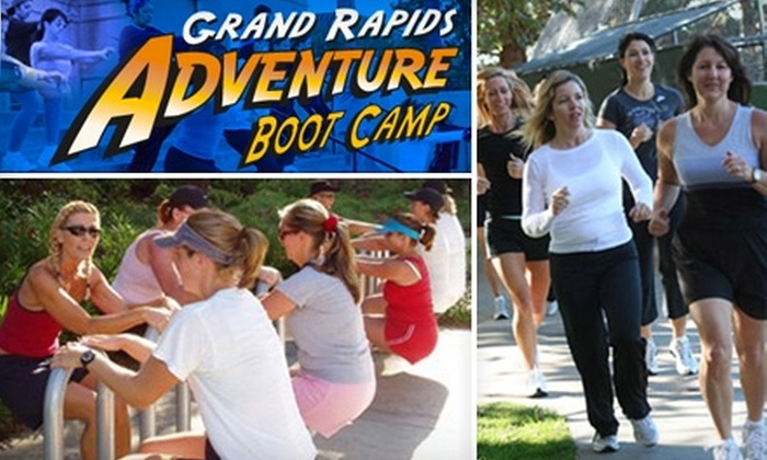 Grand Rapids Adventure Boot Camp - Multiple Locations: $50 for One Month of Boot-Camp Classes with Grand Rapids Adventure Boot Camp ($250 Value). Choose from Two Sessions and Three Locations.