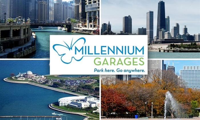 Millennium Garages - Chicago: $50 for Five Parks at Millennium Garages ($110 Value)