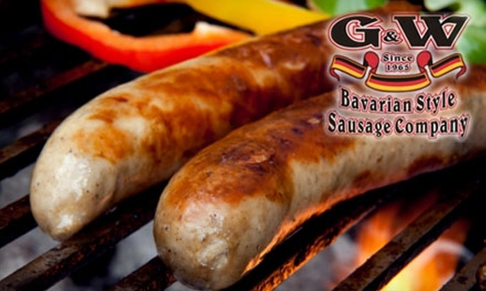 G&W Bavarian Style Sausage Company - Tower Grove South: $10 for $20 Worth of Delicious Sausages at G&W Bavarian Style Sausage Company