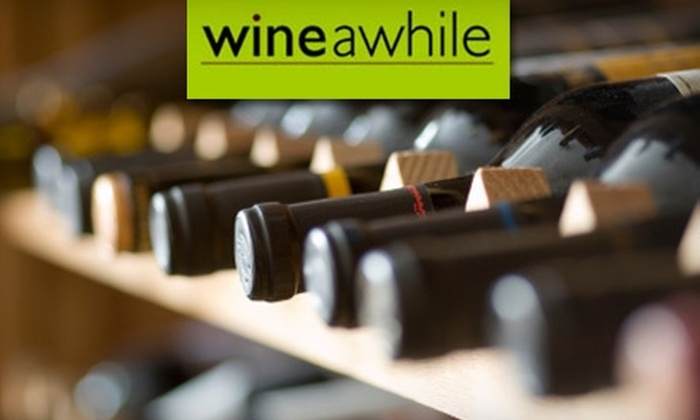 Wine Awhile - Mount Pleasant: $12 for $25 Worth of Wine, Beer, and Eats at Wine Awhile