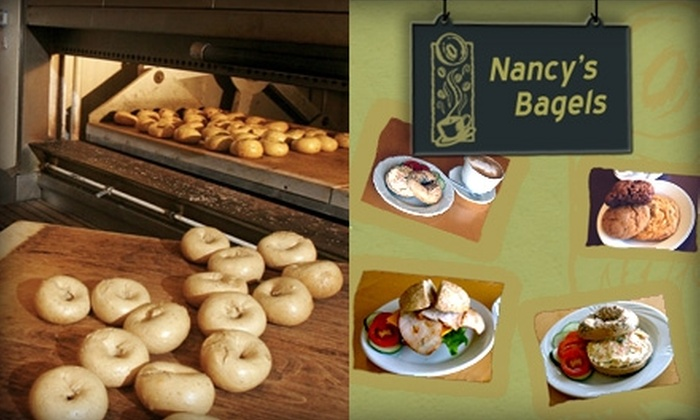 Nancy's Bagel Grounds - Clifton: $6 for One Dozen Bagels and Cream Cheese at Nancy's Bagel Grounds ($12.67 Value)