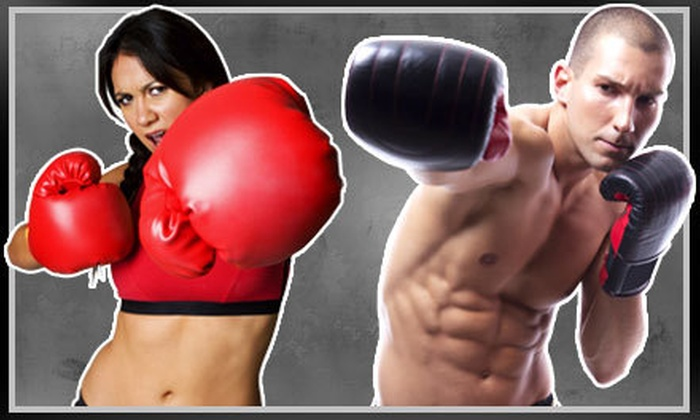 iLoveKickboxing.com - Southwest Meridian: 4 or 10 Kickboxing Classes with 40-Minute Personal-Training Session and Pair of Boxing Gloves at iLoveKickboxing.com (Up to 74% Off)