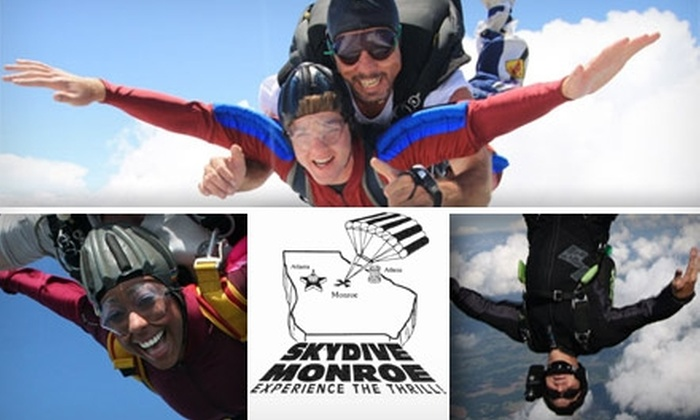 Skydive Monroe - Monroe: $110 Tandem Jump at Skydive Monroe ($190 Value)
