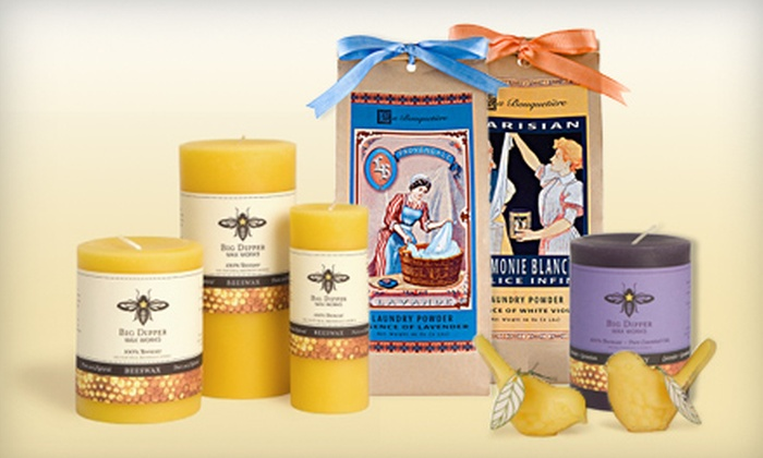 Periwinkle Rose: $20 for $40 Worth of Beeswax Candles, Organic Fabric Care, and Sleepwear from Periwinkle Rose