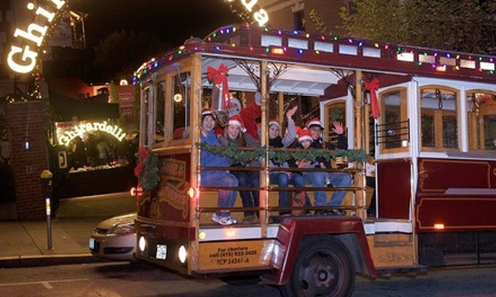 Classic Cable Cars - Multiple Locations: $28 for a 90-Minute Cable-Car Holiday-Lights Tour for Two from Classic Cable Cars (Up to $56 Value)