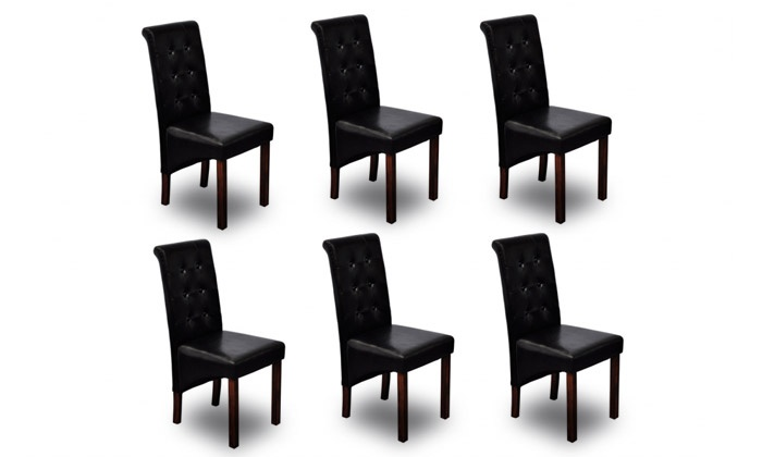chaises capitonn es groupon shopping. Black Bedroom Furniture Sets. Home Design Ideas