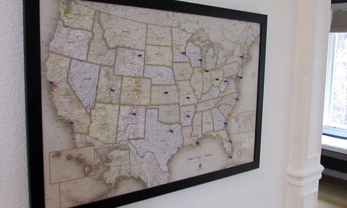 Usa or world magnetic pin travel map with bonus 20 pins groupon gumiabroncs Choice Image