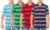 Men's Short-Sleeve Striped Polo: Men's Short-Sleeve Striped Polo