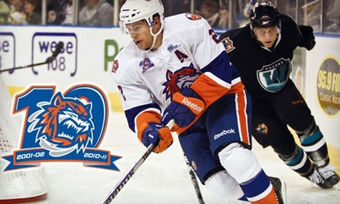 Bridgeport Sound Tigers - Downtown: $17 for One Center Ice Ticket to a Bridgeport Sound Tigers Game ($31 Value)