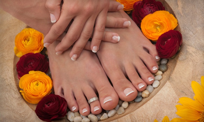 Bliss Nail Spa - Seattle Hill-Silver Firs: $25 for a Bliss Signature Manicure and Traditional Pedicure at Bliss Nail Spa in Everett ($50 Value)