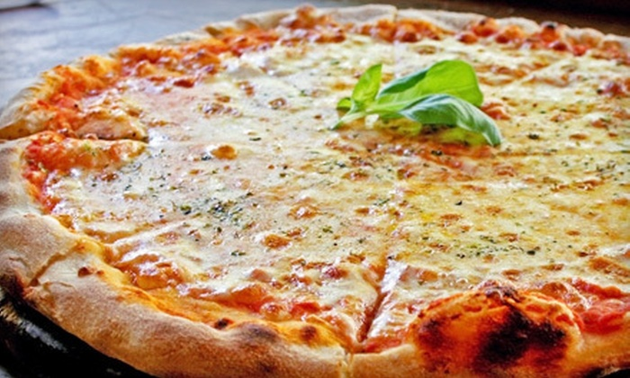 Pete's A Pie Pizzeria - La Perle: Family Meal with Appetizer and Two 12-Inch Pizzas, or $12 for $25 Worth of Pizzeria Fare at Pete's A Pie Pizzeria