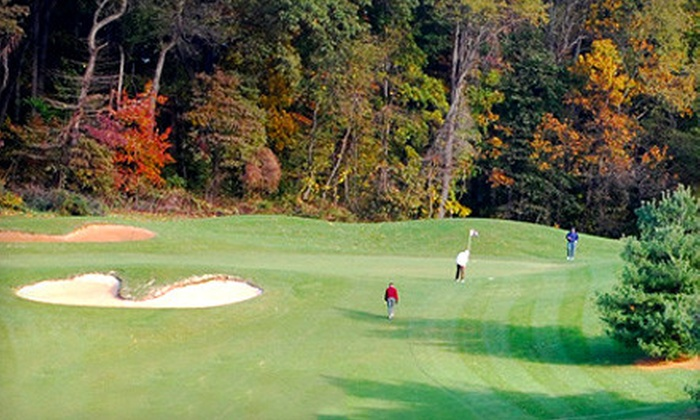 Geneva Farm Golf Course - Street: Golf Outing with a Cart, Balls, and Beer for Two or Four at Geneva Farm Golf Course in Street (Up to 52% Off)