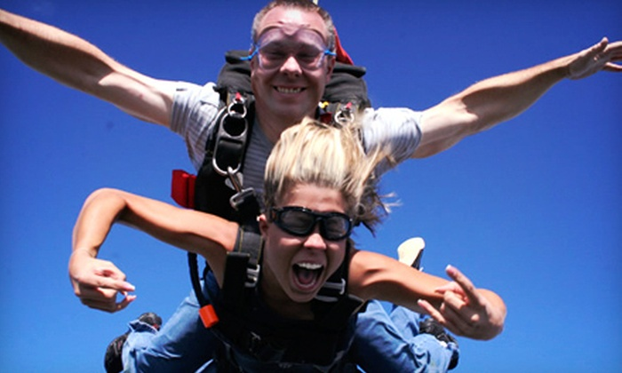 Capital City Skydiving / Bucketlistskydiving.com - Warrenton: Tandem Skydiving and with Souvenir T-Shirt for One or Two from DC Skydiving Center in Warrenton (51% Off)