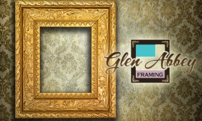 Glen Abbey Framing & Fine Art Gallery - Toronto (GTA): $40 for $100 Worth of Custom Framing at Glen Abbey Framing & Fine Art Gallery in Oakville