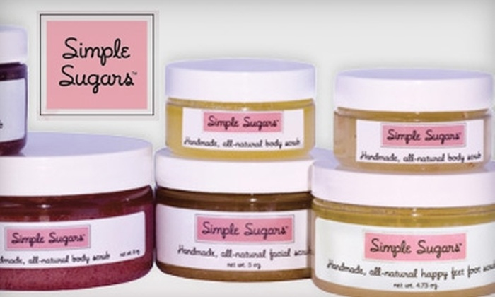 Simple Sugars: $12 for $30 Worth of All-Natural Face and Body Scrubs from Simple Sugars