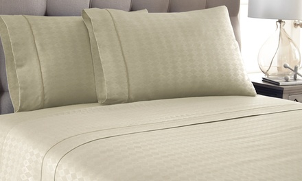Kensington Hotel Collection Embossed Diamond Sheet Set