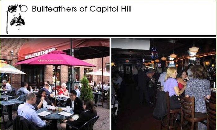 Bullfeathers - Capitol Hill: $10 for $25 Groupon to Bullfeathers of Capitol Hill