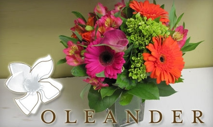 """Oleander - Stonegate - Queensway: $30 for """"The Signature"""" Flower Arrangement in a Vase from Oleander ($60 Value)"""