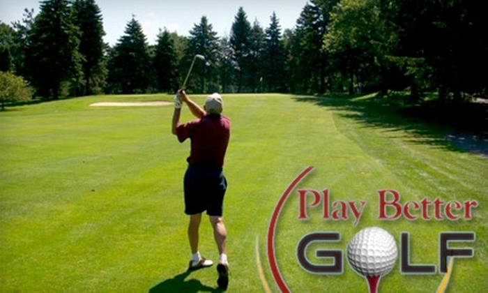 Play Better Golf - Brighton: $50 for a Golf Lesson, Swing Analysis & Unlimited Practice for One Month