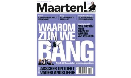 3, 6 of 9 nummers Maarten! Magazine, je abonnement stopt automatisch