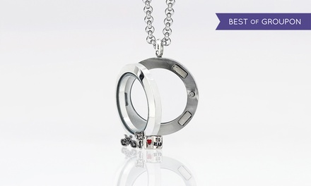 One, Two, or Three Custom Small Circle Locket Pendants from MonogramHub (Up to 93% Off)