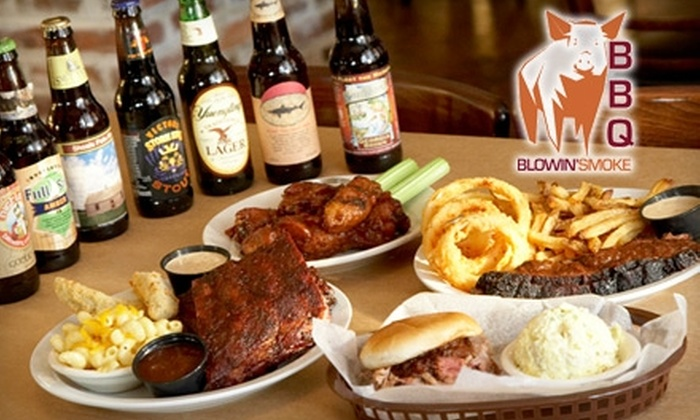 Blowin' Smoke BBQ - Savannah / Hilton Head: $7 for $15 Worth of Barbecue and Drinks at Blowin' Smoke BBQ