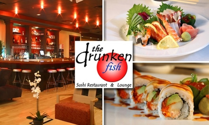 The Drunken Fish - Multiple Locations: $10 for $25 Worth of Sushi, Japanese Cuisine, and Cocktails at The Drunken Fish