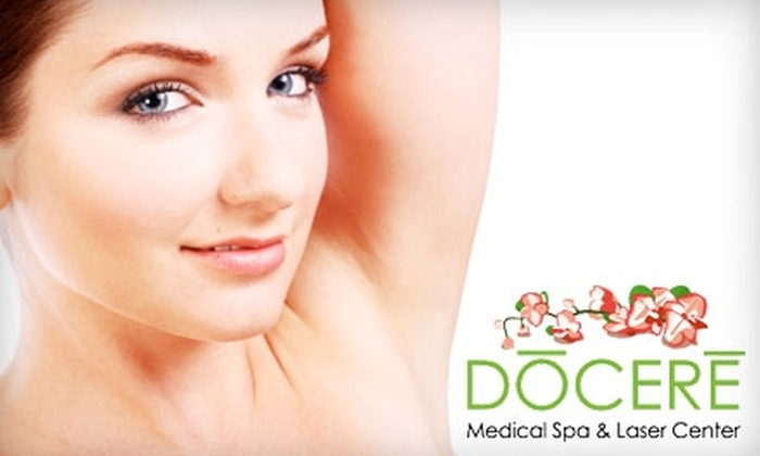 Docere Medical Spa & Laser Center - Strongsville: $150 for Three Laser Hair Removal Sessions at Docere Medical Spa & Laser Center (Up to $600 Value)