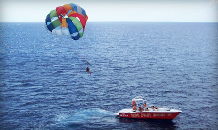 VisitPalmBeach - Riviera Beach: Parasailing Experience for One or Tandem Parasailing and Photo Package for Two from VisitPalmBeach