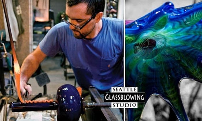 Seattle Glassblowing Studio - Belltown: Private Glassblowing Class or Hand-Blown Glass Art at Seattle Glassblowing Studio. Choose from Two Options.