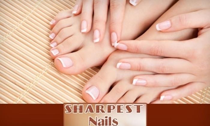 Sharpest Nails - Omaha: $25 for a Spa Mani-Pedi at Sharpest Nails ($55 Value)