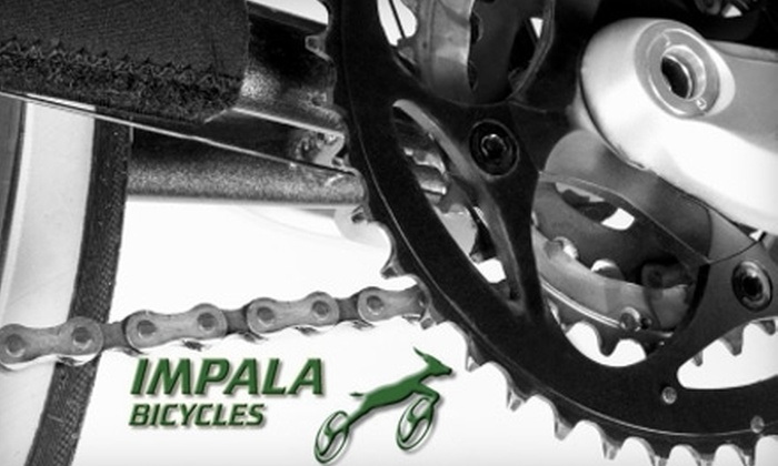 Impala Bicycles - Multiple Locations: $39 for a Full Bike Tune-Up ($90.34 Value), $29 for a Basic Tune-Up ($67.79 Value), or $25 for $50 Worth of Goods and Services at Impala Bicycles