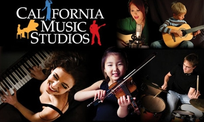 California Music Studios - San Diego: $85 for Four 30-Minute Private Music Lessons from California Music Studios (Up to $170 Value)