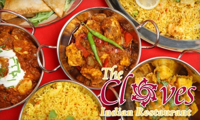 The Cloves Indian Restaurant - Suwanee: $10 for $20 Worth of Authentic Indian Dinner at The Cloves Indian Restaurant in Suwanee (or $5 for $10 Worth of Lunch)