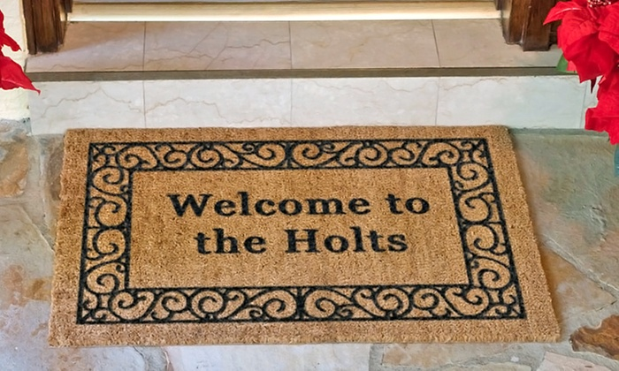 The Personalized Doormats Company: One or Two Personalized Doormats from The Personalized Doormats Company (Up to 54% Off)