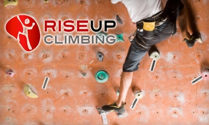 Rise Up Climbing - Diamond Hill: Up to 60% Off Full-Day Climbing Pass, Training Class, and Equipment Rental at Rise Up Climbing in Lynchburg. Choose Between Two Options.