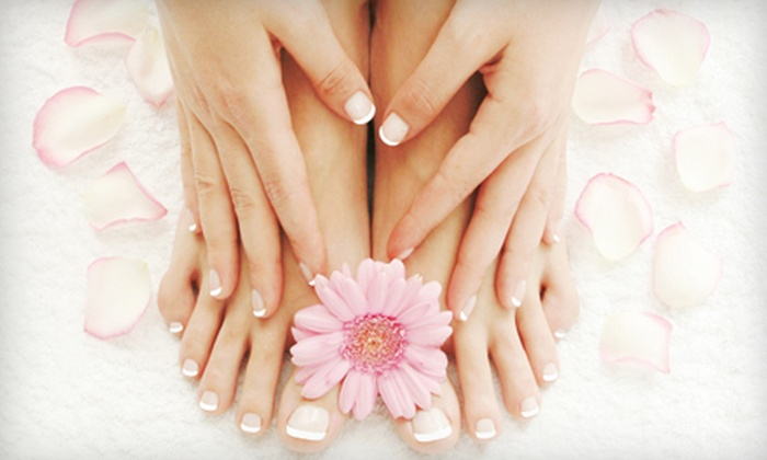 Salon LaVish - Wooster: Basic or Shellac Mani-Pedi at Salon LaVish in Wooster (Up to 51% Off)