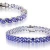 20.00 or 26.00 CTTW Tanzanite Bracelets in Solid Sterling Silver