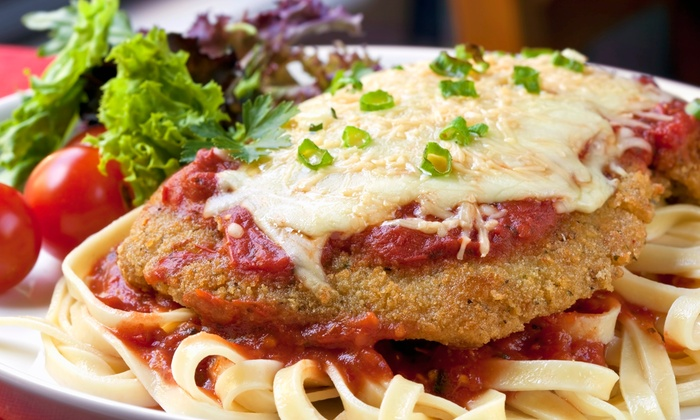 Sianos Pizza - Deering Center: $22 for Two Groupons, Each Good for $20 Worth of Italian Food at Sianos Pizza ($40 Total Value)